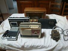 Lot de postes de radio anciens, transformateur, enregistreur etc.....