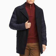 Tommy Hilfiger Mens Coat Black Size Medium M Puffer Sleeves Wool $249- #047