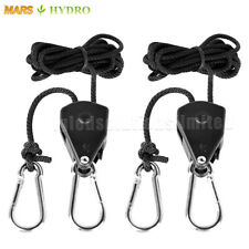 2PC 1/8 Rope Ratchet YOYO Hanger For LED Grow Light Fan Carbon Filter Hydroponic