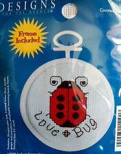 Cross Stitch Mini Kit ~ Janlynn Love Bug w//Frame #998-5030 SALE! Ladybug