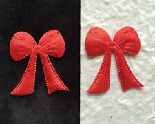 50 Bows Red Satin bow Christmas Wreaths holiday crafts Valentine Cards wreath