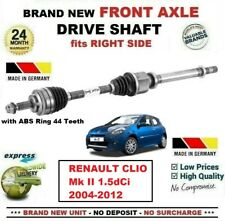 FOR RENAULT CLIO Mk II 1.5dCi 2004-2012 1x BRAND NEW FRONT AXLE RIGHT DRIVESHAFT