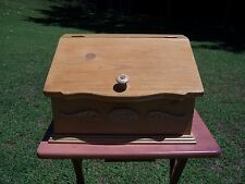 WOODEN BREAD BOX COUNTRY KITCHEN DECOR~ MADE IN THE USA.