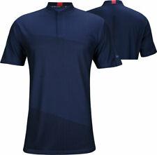 Nike Dry Mens Tiger Woods TW Short Sleeve Golf Shirt Blue Size Medium CT3799-455
