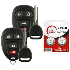 2 New Replacement Keyless Entry Remote Car Fob for 22733523 w/ 2 Chip Plus Keys