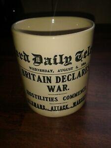 RARE MUG SHOWING WW1 BRADFORD DAILY TELEGRAPH AUGUST 1914 NEWSPAPER PRINT
