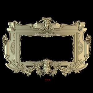 (A-20) 3d stl model Frame Mirror relief for artcam vectric aspire printer