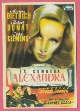 Spanish Pocket Calendar #267 Knight Without Armour Film Poster Marlene Dietrich