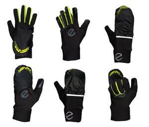 eGLOVE Run - XTREME Flip Mitt - Ultra Warm Run Gloves / Mitt - Black