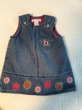 GUC H & M Denim Jumper With Flowers Size 2-4 Months