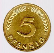 5 Pfennig 1970 F in unzirkuliert/prägefrisch