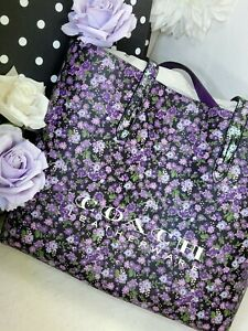 NEW Coach 55181 floral highline tote shoulder bag purse shopper purple handbag