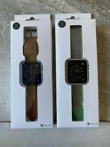 Monowear Watch Band for Apple Watch 38mm Brown / Dark Gray MWLTBR20MTDG 5147400