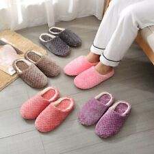 Womens Warm Non-slip Slipper Indoor House Plush Soft Cotton Slippers Shoes US