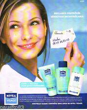 PUBLICITE ADVERTISING 075  2002  NIVEA VISAGE  cosmétiques  LA BRILLANCE