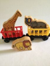 CIRCUS TRAIN Cars ANIMALS ThomasTank Engine Wooden Cars Elephant Giraffe Lion