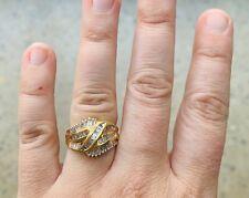 Womens ring Genuine natural white diamond gold 18k val $8890