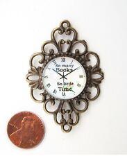 New Elegant Scroll Wall Clock with Glass Dome Dollhouse Miniatures Reg. $39.99