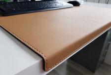Gewinkelte Schreibtischunterlage Soft Lux Leder 90 x 47 Beige