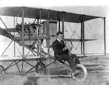 1912 Photo Early Pioneer American Aviator Lincoln Beachey and his Airplane