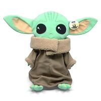 "Disney Star Wars Mandalorian The Child Pillow Buddy 18"" Tall Baby Yoda Plush"