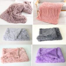 Cute Dog Bed Mats Soft Plush Fleece Warm Pet Blanket Sleeping Beds Cover Mat