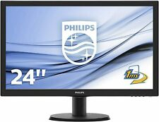 "PHILIPS MONITOR 24"" LED FULL HD 1MS MULTIMEDIALE VGA DVI HDMI 243V5LHAB GAMING"