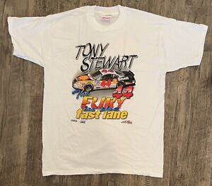 NASCAR Vintage 1997 TONY STEWART Shell  T-Shirt NEW IN PACKAGE XL Free Shipping