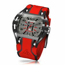 Black and red watch Wryst PH6 With scratch-resistant black DLC coating