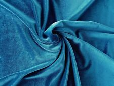 Teal Green Blue 4-way stretch spandex/lycra velvet  velour fabric