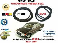 FOR MERCEDES S CLASS W116 SE SEL 1972-1980 FRONT + REAR WINDSREEN WINDOW SEAL