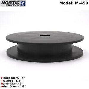 Nortic Inc - M450 Black Plastic Empty Spool / Bobbin - Heavy Duty