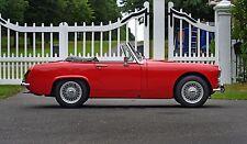 1972 MG Midget, Tartan Red with wire wheels, restored condition, delightful