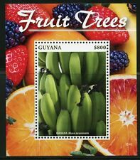GUYANA  2016 FRUIT TREES BANANAS  SOUVENIR SHEET   MINT NH
