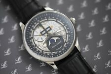 NEW LOUIS ERARD 1931 MOONPHASE CALENDAR SKELETON AUTOMATIC WATCH IWC