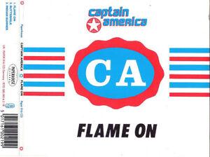 CAPTAIN AMERICA Flame On CD single Vaselines / Eugenius