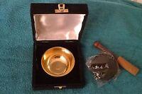 Brass Singing Bowl Gift Set 9cm Diameter