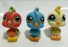 Littlest Pet Shop #394 , #317 & Yellow #1452 Cockatoo Birds.