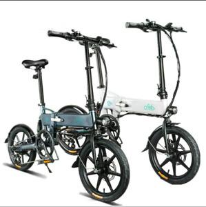 FIIDO D2S Folding Electric Bike 16-inch Tires 250W Motor Max 25km/h**