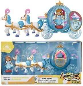 Disney Store Cinderella Mini Playset Animators Collection carriage two horses