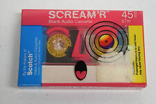 Vintage New/Sealed Scotch SCREAM'R Blank Cassette Tape Normal Bias Clear Retro