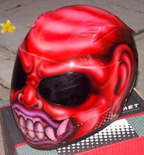 Airbrush Monster Motorcycle Helmet Bali Demon Custom made painted Helmet