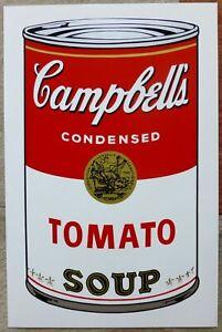 Campbell's TOMATO SOUP Can I Sunday B. Morning nach Andy Warhol NEU Zertifikat