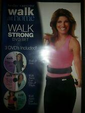 Leslie Sansone: Walk Away Your Waistline, Hips & Thighs Firm at Home DVD SET NEW