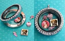 Personalized floating photo charm for your glass living locket pendant 8mm mini