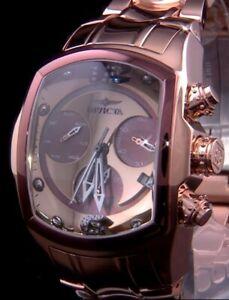 Invicta Lalo Grand Lupah Revolution Ltd Ed Diamond MOP Polished Rose Gold Watch