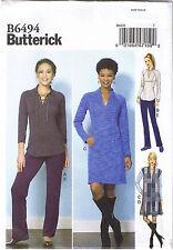 Stretch Knit Raglan Sleeve Top Vest Dress Pants Sewing Pattern 14 16 18 20 22