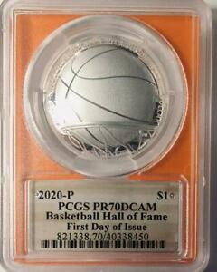 2020-P- Basketball Hall of Fame Silver Commemorative Dollar - PCGS PF-70 DCAM