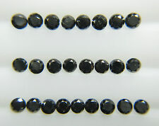 0.48cts 25pc Natural Loose Fancy Black Diamond Round 1.6-1.7mm Good Quality