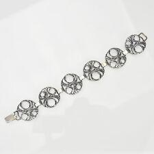 Modernist Perli 0.800 Silver Bracelet Brutalist Oly Relo Teka Art Boho
